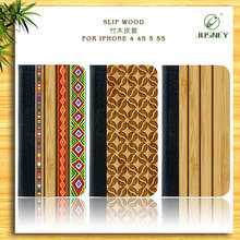 Wooden Handphone Cover Wholesale With Bamboo&Leather