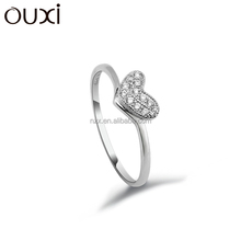 OUXI 2016 fashion design wholesale engagement 925 sterling silver ring Y70020