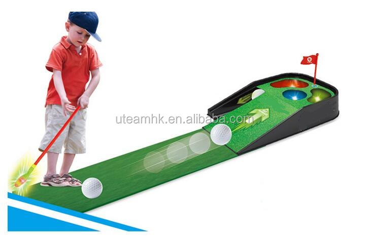 kids indoor golf game with light and musice