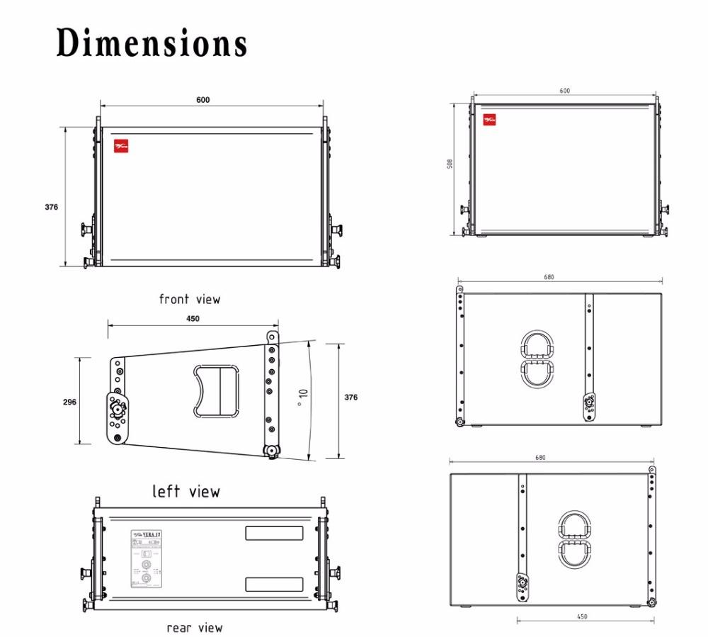 vera12 latest design 1x12 u0026quot  line array speaker with 1x 18 u0026quot  line array subwoofer