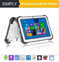 IP67 Quad core Intel Baytrail-T Win8 2D barcode scanner 10.1 inch android tablet pc 3g gps wifi