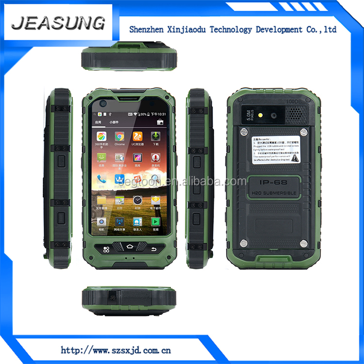 China factory oem & odm unbranded ip68 waterproof rugged android dual sim smart phone