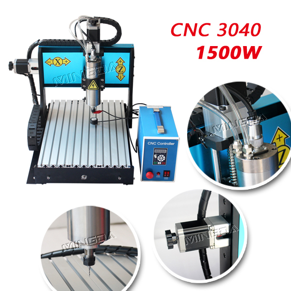 MINGDA CNC 3040 desktop mini cnc engraving machine 1500W gravograph engraving machine