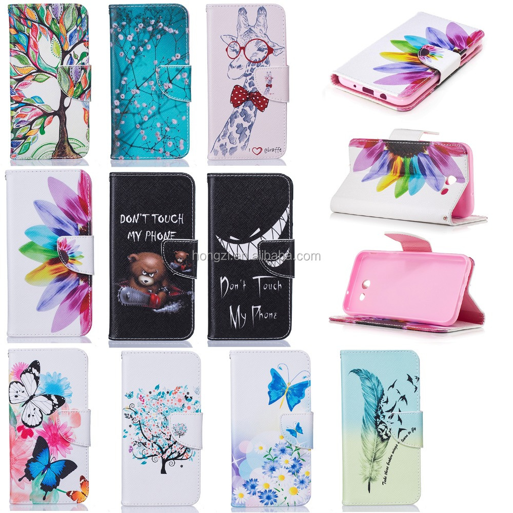 For Samsung Galaxy J3 Case Colorful Magnetic Flip PU Leather Painted Phone Cases For Samsung Galaxy J3 2017 Case Wallet Cover