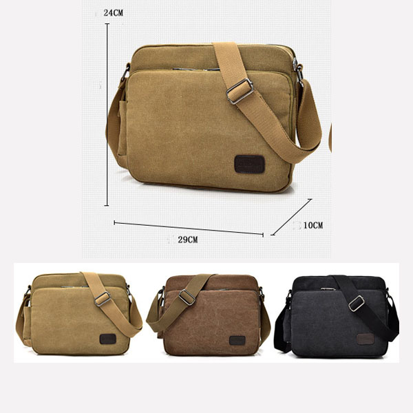 Alibaba oem vintage sling bag canvas shoulder strap mens small messenger bags