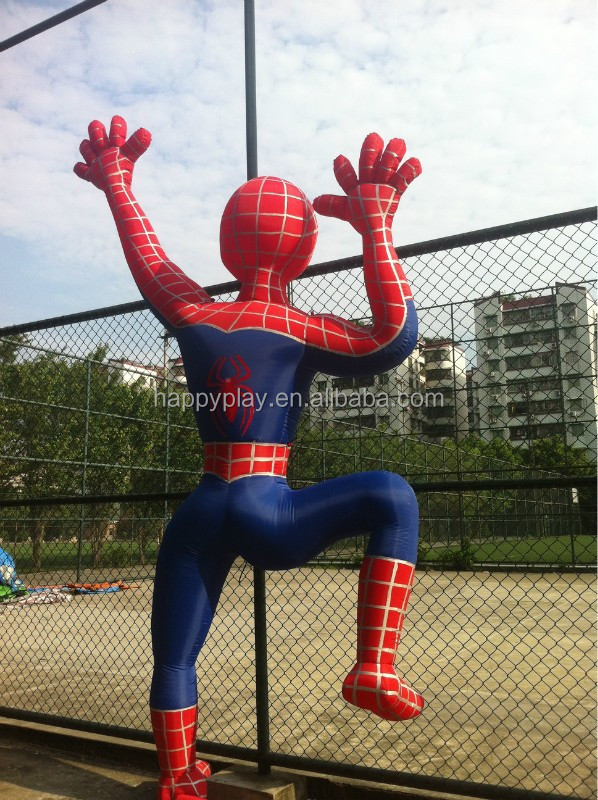 Inflatable spiderman mascot costume for sale