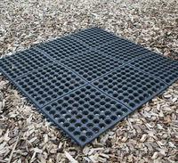 Grass Grow Water Drainage Garden Rubber Mat