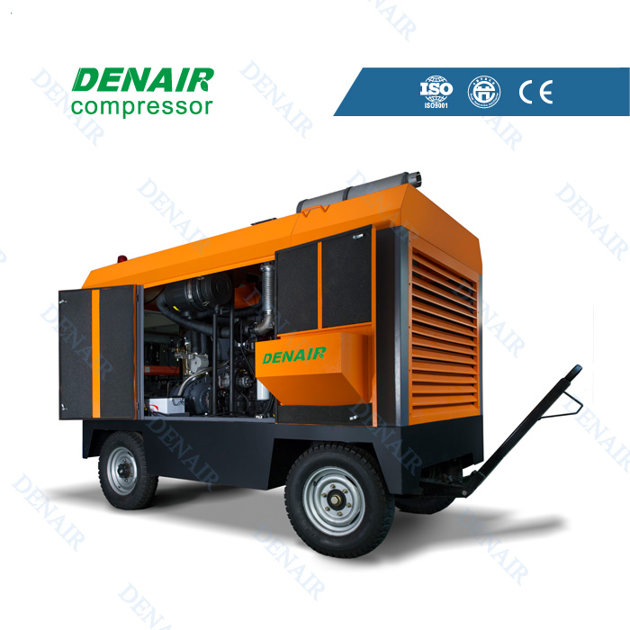diesel portable towbar air compressors used in mining