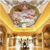 Best cheap with various designs custom Sky decorative 3d ceiling murals