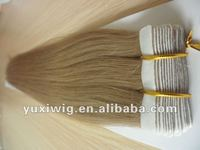 Hot Selling Human Hair Glue Tape Skin Weft