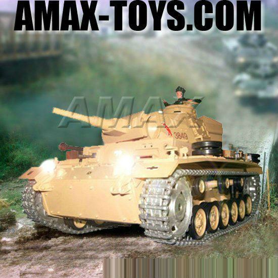 rb-3849-1pro panzer toy 1:16 RC tank - Tauch Panzer III, upgrade version