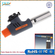 Portable Welding Gas Torch Flame Gun Electronic Ignition Lighter Burner High and Low for Camping BBQ and Baking