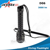 Ultra-bright ,Magnet control switch, hand held (2*18650) torch LED dive and search light