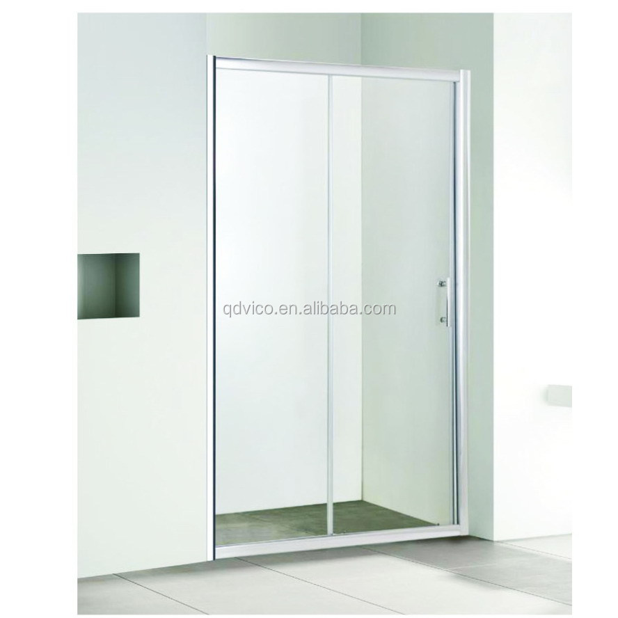 6mm SlidingTempered Glass Shower Door With Aluminum Profile