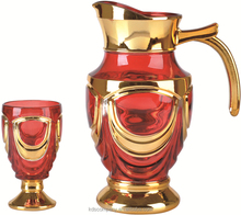 Glass water jug set, souvenir glass, glass pitcher with lid