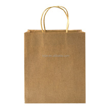 Plain Cheap Brown Paper Bags with Handle Custom Kraft Paper Bag
