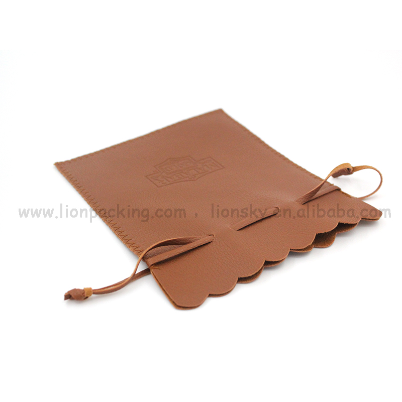 Free samples jewelry latest leather pouch bag for men