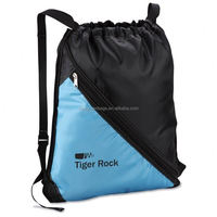Factory manufacture drawstring backpack drawstring gym bag with zipper