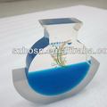 Hot Sale !! Blue Resin /Acrylic paperweight