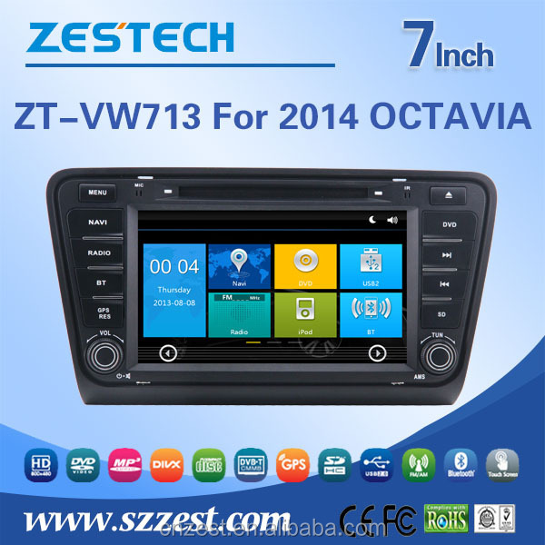 touch screen 2 din car dvd gps for skoda octavia 2014 auto radio gps navigation with cd player bluetooth tv multimedia