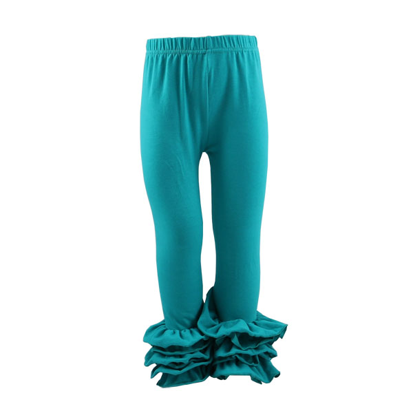 2016 New Spring Green Ruffle Baby Icing Leggings Girls 100% Cotton SGS Adult Baby Pants