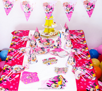 Mini Mouse Baby Birthday Theme Party Tableware Set Baby Shower Decorations