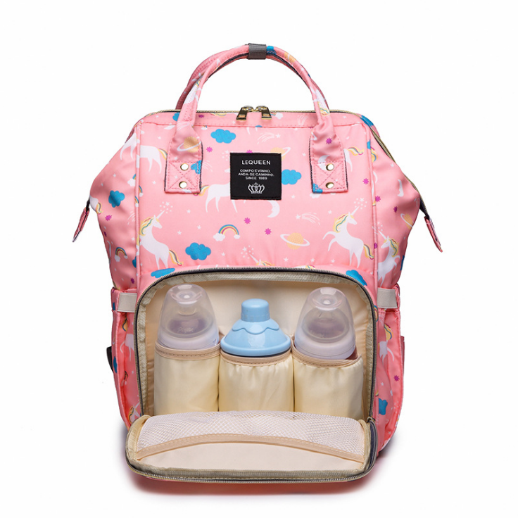 Multi-function Fashion Large Capacity Mummy Nappy Bag Waterproof Baby Diaper Bag Backpack