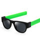 107501 The New Design Sun glasses Wholesale Fashion Shades Applauded Mirror Polariscope Soft Leg Roll Up Sunglasses