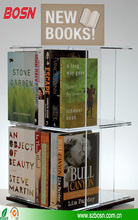 stackable rotating Plexiglass Tabletop clear acrylic book holder