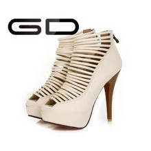 2015 new designs high heels sandals platform shoes sandals cheap plastic shoes