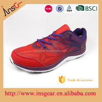 red color offset print quanzhou factory outdoor sport shoes factory in jinjiang