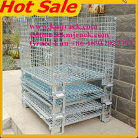 Best Selling Galvanized Folding Steel Wire Mesh Storage Cage