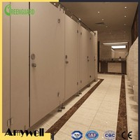 Amywell Public commercial waterproof hpl toilet partition cubicle