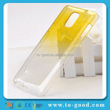 New Product 3D Water Drop Cover Case For Samsung Galaxy Note 4 Mobile Phone (Yellow)