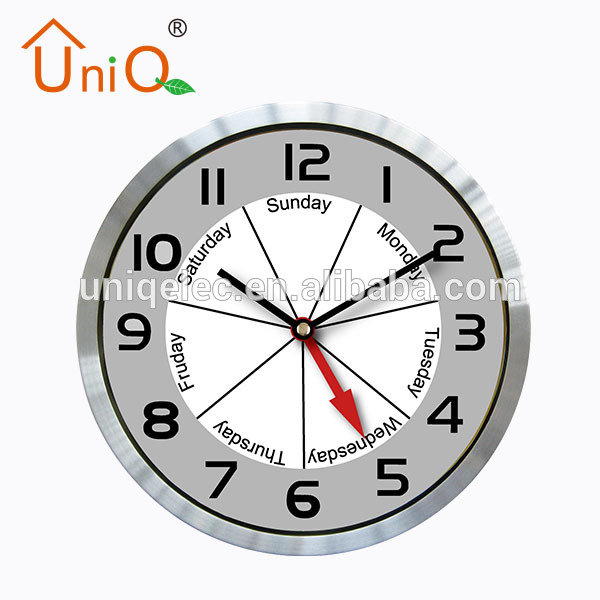 Aluminium bathroom wall clock