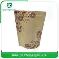 Strict Quality Check Manufacturer Food Package Zipper Pouch Kraft Paper Bag