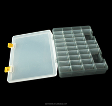 Compartment Slot Plastic Storage Box With Lid For Hair Accessories