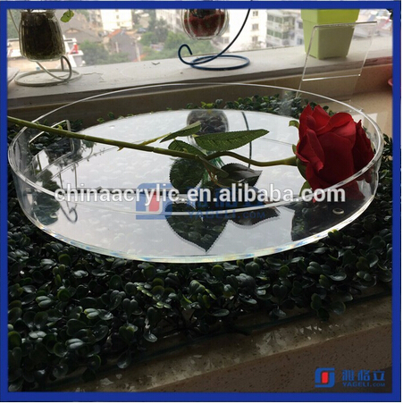 OEM &ODM Round Acrylic Food Tray / Lucite Acrylic Tray / Luxury Acrylic Serving Tray with custom