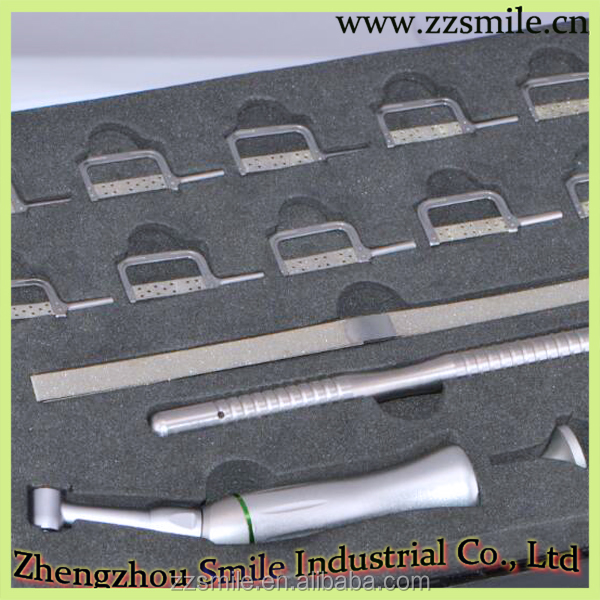 Dental Interproximal Enamel Reduction Ipr Contra Angle/Dental Orthodontic Enamel Removal Set for Hand and Engine Use