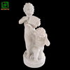 Stone Marble Music Boy Angel Statue