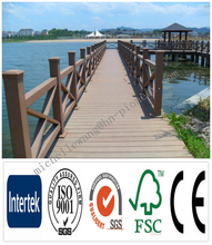 Weather resistant wood plastic composite decking WPC teak wood flooring indonesia, solid teak wood flooring
