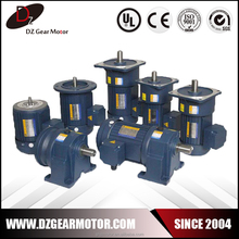 1HP Single phase AC Electric motor 0.75KW with ratio 3-100
