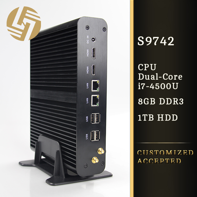 PC small mini desktop i7 2 nic mini server 4k gamer custom PC