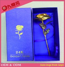Gold rose 24k Big size 25cm gold foil artificial flowers for wedding gift Valentines Day gift
