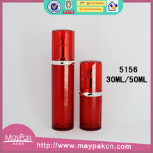 Free sample new product cosmetic packaging red arcylic airless lotion bottle and jar set