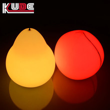 2017 Modern design fruit lamp for home decoration wireless remote PE plastic pear shape light led table lamp