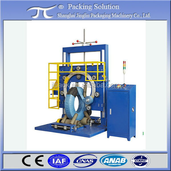 Automatic truck tyre packing machine,widely used tire wrapping machine