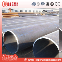 Tianjin factory oil coated steel pipe large diameter building material lsaw steel pipe