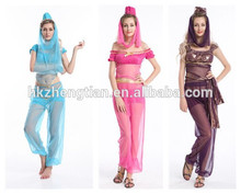 Adult drop ship carnival instylesChina Supplier Hot Sales Halloween Fancy Dress Costume Genie costumes indian costumes