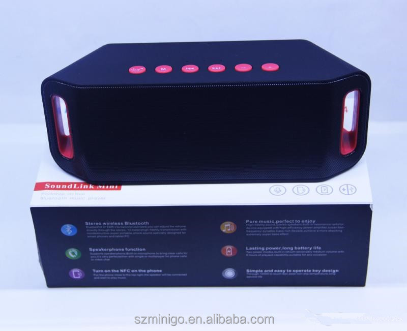 S204 Wireless Bluetooth Mini Speaker Outdoor 5W+5W Dual Bass Horn Hifi Stereo Subwoofer Support TF Card